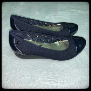 Anne Klein sport blue quilted pumps 10M EUc